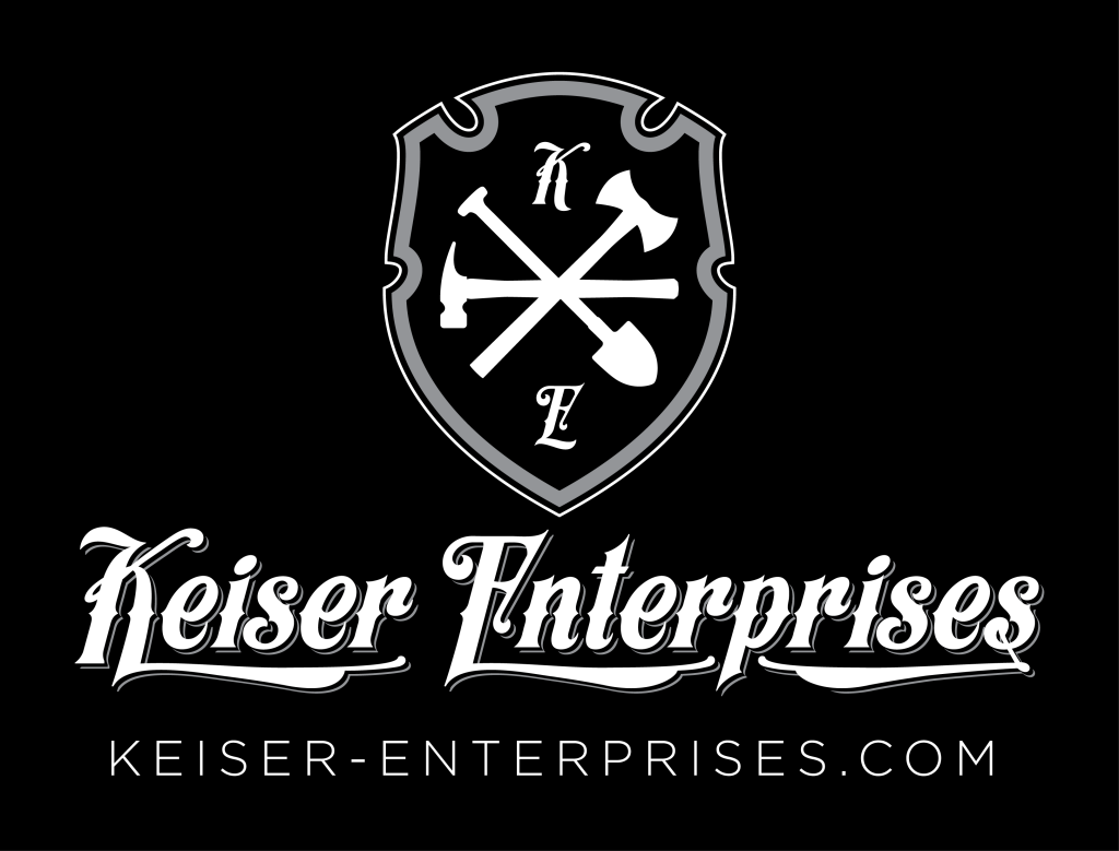 Keiser Enterprises Logo Inverse Tall Large