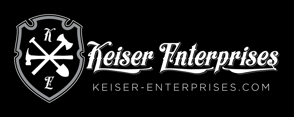 Keiser Enterprises Logo Inverse Wide Large